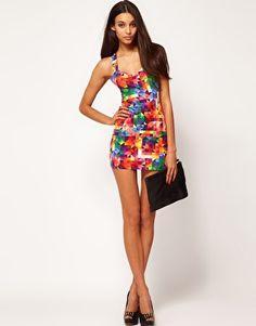 $25 Enlarge Motel Kaleidescope Dress