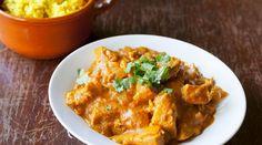Receta tailandesa de curry panang de pollo con arroz frito