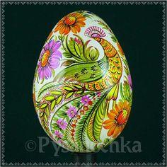 Real Ukrainian Pysanky. Petrykivka Pysanka Goose Egg. Easter Egg. Hand made