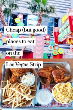Cheap (but good) places to eat on the Las Vegas Strip. This is a list of afforda… Cheap (but good) places to eat on the Las Vegas Strip. This is a list of affordable and budget-friendly restaurants that you can walk to on the Las Vegas Strip. Las Vegas Restaurants, Las Vegas Eats, Las Vegas Food, Las Vegas Vacation, Visit Las Vegas, Las Vegas Nevada, Best Food In Vegas, Cheap Vegas Trip, Travel Tips