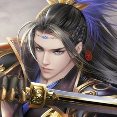 Wife of the Demon Emperor - Character Sketch(Qinshen) Fantasy Art Men, Fantasy Artwork, Character Inspiration, Character Art, Dragon Illustration, Chica Cool, Anime Warrior, Art Anime, Chinese Man
