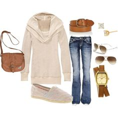 """""""Super Casual Sunday"""" Love this! Fall Winter Outfits, Autumn Winter Fashion, Winter Style, Pretty Outfits, Cute Outfits, Casual Elegance, Jeans, Plus Size Fashion, What To Wear"""
