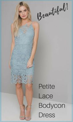 4af9b2f976a Stunning petite bodycon dress with all over crochet design and sheer  crochet hem.  Worldwide Shipping