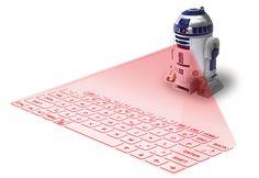 Cooles Technik Gadget fürs Mobile Office: Virtuelle Tastatur als R2-D2 getarnt