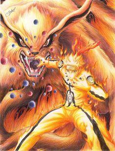 Kurama y Naruto-Anime-Naruto-Naruto Shippuden Anime Naruto, Naruto Shippuden Sasuke, Manga Anime, Wallpaper Naruto Shippuden, Sasuke Sakura, Naruto Wallpaper, Naruto Art, Gaara, Itachi
