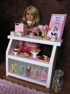 Bakery Case with Cash Register  Sweet Shop by MadiGraceDesigns