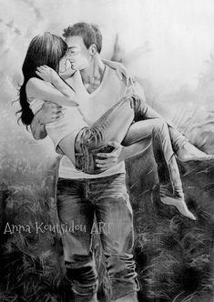 Hug drawing romantic