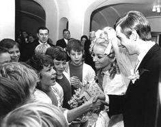 Huwelijk Cruijff. 02-12-1968.