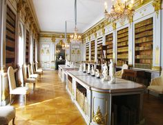 Drottningholm's elegant library was designed for Queen Louisa Ulrika.Photo by Janice Mucalov