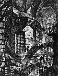 I scanned this essay years ago from a library copy of a 1949 edition of Piranesi's Carceri d'Invenzione (Trianon Press, London). It's worth reproducing here since it's still one of the best analyse...