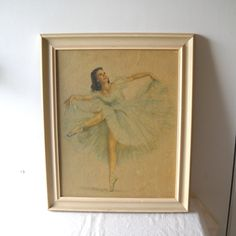 Vintage Ballerina Litho La Valse by Monte Shabby Cottage.
