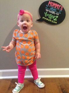 Super Cute (& easy) Pregnancy Announcement