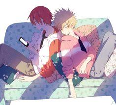 My Hero Academia (Boku No Hero Academia) #Anime #Manga Kirishima Eijirou and Katsuki Bakugu