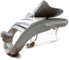 The futuristic Schimmel piano resembles a space ship or a vehicle that is used to travel across the galaxy in a science fiction novel.