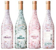 Personnellement je ne suis pas fan quand je ne peux voir la couleur de mon vin/spiritueux mais je trouve ce design cute tout de même  Libalis / Brosmind | Design Graphique