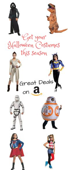 Fantastic Costumes for this Halloween .... get them quick on Amazon