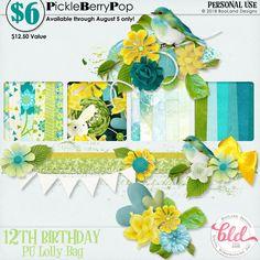 Lolly Bag - PU {by BooLand Designs} 12th Birthday, Birthday Celebration, Happy Birthday, Lolly Bags, Digital Scrapbooking, Design, Products, Happy Brithday, Urari La Multi Ani