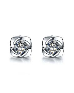 #AdoreWe #VIPme (VIPSHOP Global) SIRUIMAN❤️Designer Accessories 0.3CT SONA Simulate Diamond Earrings - AdoreWe.com