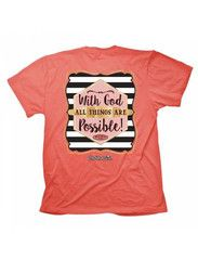Cherished Girl With God All Things are Possible Girlie Christian Brigh | SimplyCuteTees