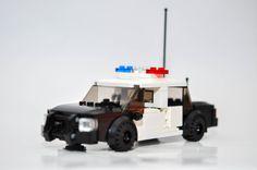 City Custom Police Car Model built with Real LEGO (R) Bricks