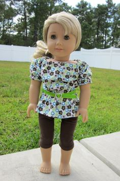 American Girl Doll Tunic & Leggings by TailsandTentacles on Etsy, $24.00