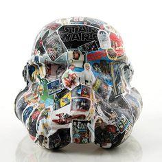 "#StarWarsLegion #art exhibition helmet design ""A Long Time Ago in a Kid's Room Far Far Away..."" by Kevin Deters. #StarWars by starwars"
