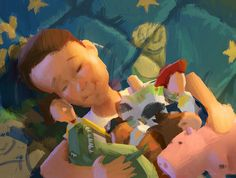 Disney and Pixar Concept Art - Toy Story 3 Toy Story 3, Toy Story Andy, Walt Disney, Disney Art, Disney Magic, Disney Pixar, Pixar Concept Art, Disney Concept Art, Art And Illustration