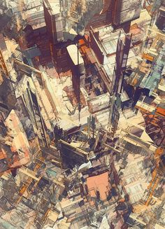 2headedsnake:    olschinsky.at:de  Atelier Olschinsky - Deconstructed cities iv    Color Illustrations | atelier olschinsky | 132