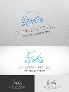 Chiropractic Massage Logo Template. Human Icons. $14.00