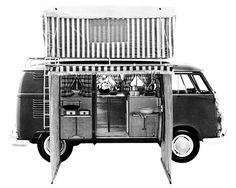 1964 Volkswagen Bus Westfalia Camper Factory Photo c2374-Q2IMVA