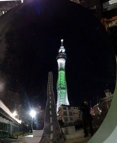 Christmas Sky Tree in a convex mirror !