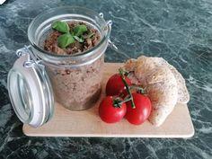 Mediterrán lencsekrém Ravioli, Crackers, Tapas, Pudding, Jar, Desserts, Recipes, Spreads, Food