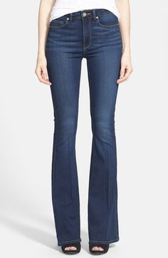PAIGE 'Transcend - Bell Canyon' High Rise Flare Jeans (Nottingham) available at #Nordstrom