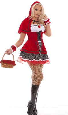 Sexy Red Riding Hood Costume, Red Riding Hood Costume, Sexy Halloween Costumes