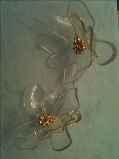 Earrings made from recycled plastic bottles