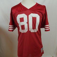 Vintage Jerry Rice 80 - San Franscisco 49ers NFL - Football Jersey - XL -  Wilson  Wilson  SanFrancisco49ers 040e4d7e4