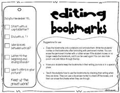 FREE! Help your students remember with a bookmark!
