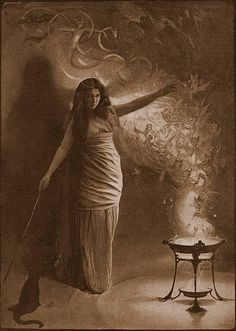 Circe - a minor goddess of magic (or sometimes a nymph, witch, enchantress or sorceress),