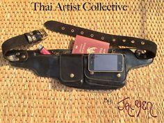 Cintura di cuoio / Hip Bag / Fanny Pack  tasca portafoglio di