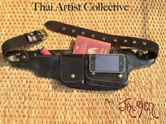 Mens Leather Utility Belt / Hip Bag / by ThaiArtistCollective