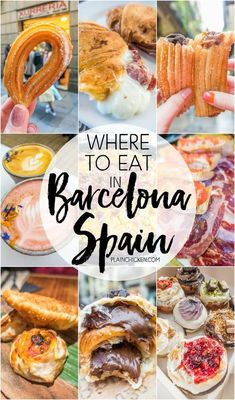 Where to Eat in Barcelona - churros, tapas and more! PLUS a life-changing Nutella croissant that you MUST get on your trip to Barcelona!! SO much great food! #Foodietravel