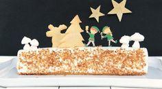 Bûche de Noël Vanille & Caramel au Beurre Salé { Recette en Vidéo Stop Motion }