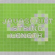JavaScript String length