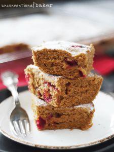 Gluten-Free Vegan Fresh Cranberry Cake {Refined Sugar-Free, One Bowl}