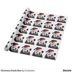 Christmas Panda Bear Wrapping Paper