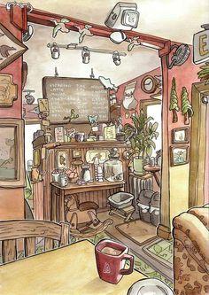 Steven Reddy - a coffee shop