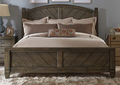 Modern Country Queen Poster Bed | Liberty | Home Gallery Stores
