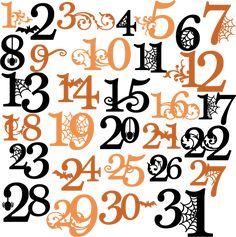 Halloween Numbers SVG cutting files halloween svg cuts free svg files free svg cuts