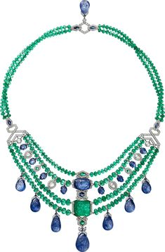 Necklaces – Page 11 – Modern Jewelry Cartier Necklace, Cartier Jewelry, Sapphire Necklace, Emerald Jewelry, Rose Gold Jewelry, Jewelry Necklaces, Sapphire Diamond, Diamond Necklaces, Modern Jewelry