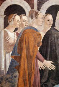 Piero della Francesca | Storie della Vera Croce, 1452-1466, Ritrovamento delle tre croci e verifica della Croce | Podere Santa Pia, Casa Vacanze in Maremma, Toscana